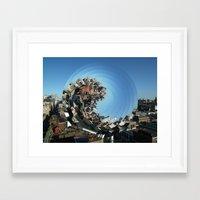 Spinning City Framed Art Print