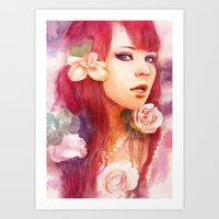 Kiss from a rose Art Print