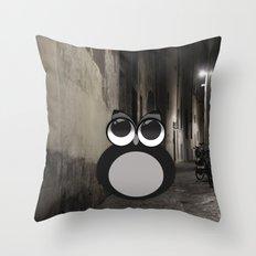 Gothic owl Throw Pillow