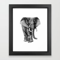 Ornate Elephant v.2 Framed Art Print