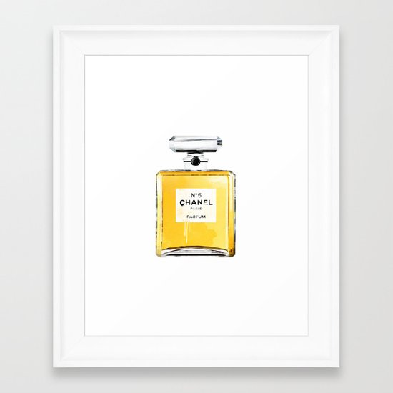 chanel no5 Framed Art Print