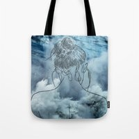 Lonely woman Tote Bag