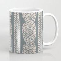 Cable Knit Grey Mug
