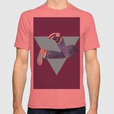 Pumped Up Kicks Mens Fitted Tee Pomegranate SMALL