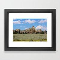 Mother Nature's Rock Sculpture Framed Art Print
