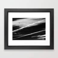 Ufo And Chemical Trails Framed Art Print