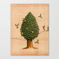 Wings On Pears Tree - Co… Canvas Print