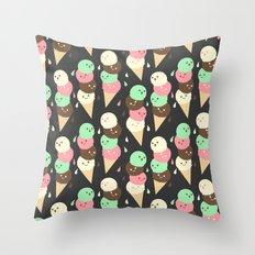 Ice Cream Social Throw Pillow