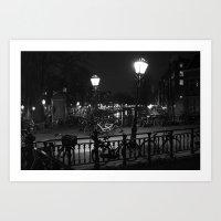 Amsterdam by Night Art Print