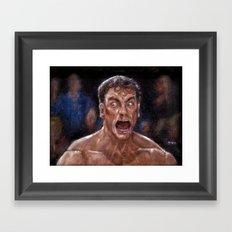 JCVD Screaming his F--king Face  Framed Art Print