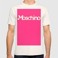 Moschino Barbie Mens Fitted Tee Natural SMALL