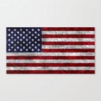 USA Grunge Flag Canvas Print