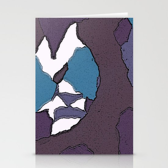 Man face Stationery Card