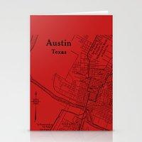 Vintage Austin Red Stationery Cards