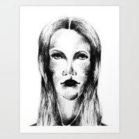 Goth Girl Art Print