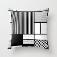 Composition With Black, … Throw Pillow