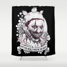 xoxo Twisty Shower Curtain