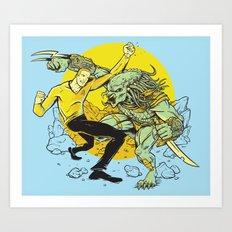 BattleKirk Predactica Art Print