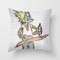 Frog Man Throw Pillow