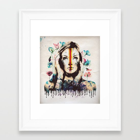 Drips of color Framed Art Print