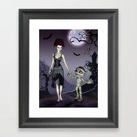 Halloween love Framed Art Print
