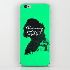 Not a golfer! – The Big Lebowski Silhouette Quote iPhone & iPod Skin