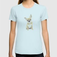 Chihuahua Womens Fitted Tee Light Blue SMALL