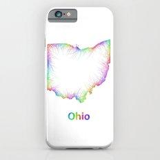 Rainbow Ohio map Slim Case iPhone 6s