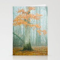 autumn Stationery Cards featuring Autumn Woods by Olivia Joy StClaire