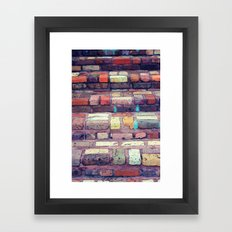 Abstract Bricks Framed Art Print