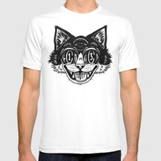 The Creative Cat Mens Fitted Tee White SMALL