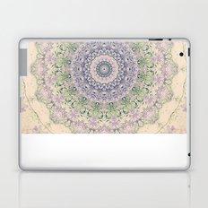 32 Wisteria Pine Loop -- Vintage Cream and Lavender Purple Mandala  Laptop & iPad Skin