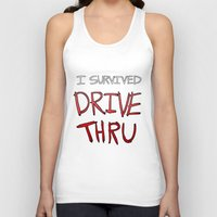 I survived DRIVE THRU Unisex Tank Top
