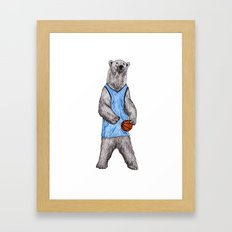 White Bears Can't Jump Framed Art Print