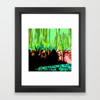 The Wood is on fire Framed Art Print