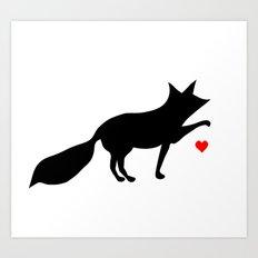 Love You, Little Fox Art Print