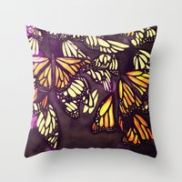 The Monarch (variation) Throw Pillow