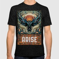 Arise Mens Fitted Tee Tri-Black SMALL