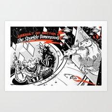 Assault on Sector 11: The Sparkle Dimension Art Print