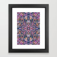 Framed Art Print featuring Vivid Celebration - A Pa… by Micklyn