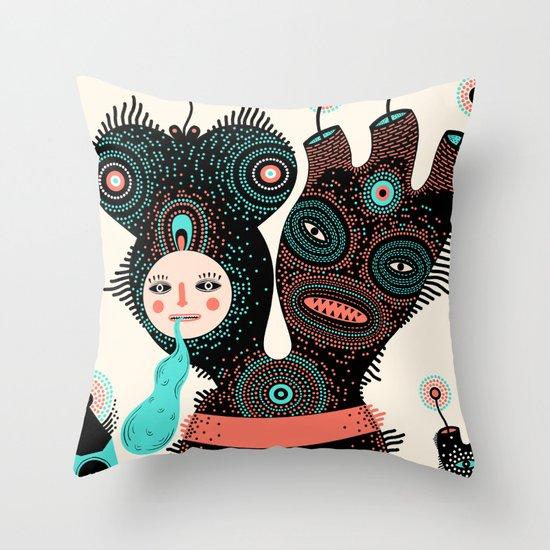 k r o x m o g o  Throw Pillow