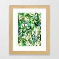 VIBE of the Jungle  {A-green} Framed Art Print