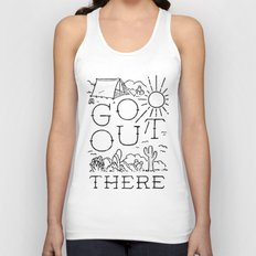 GO OUT THERE (BW) Unisex Tank Top