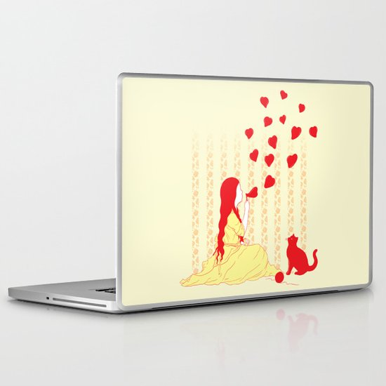 Bubbly Hearts Laptop & iPad Skin