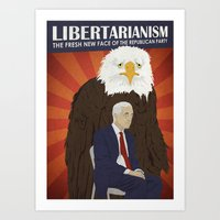 Libertarianism: The Fresh New Face of the Republican Party Art Print