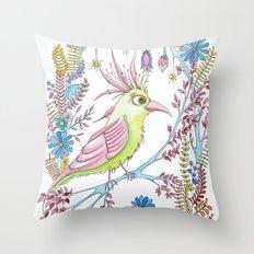 exotic bird Throw Pillow