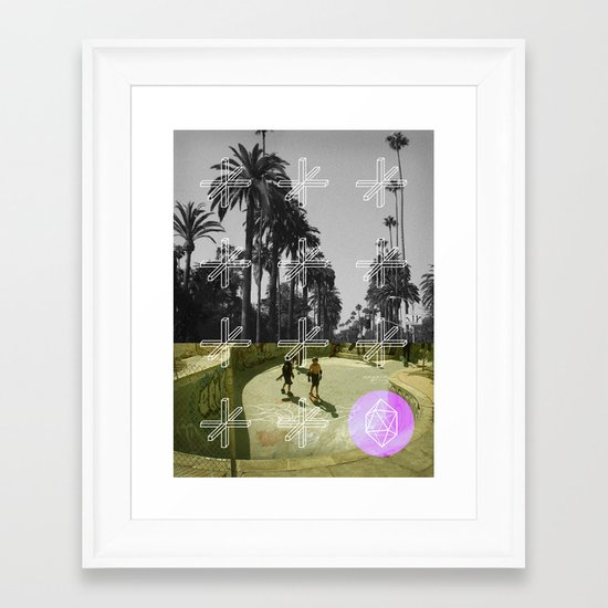 GEO SKATERS Framed Art Print