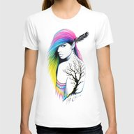-Stadt Indianer- Womens Fitted Tee White SMALL