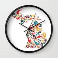 Michigan Colors Wall Clock