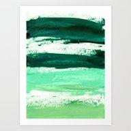 Waves Emerald Art Print